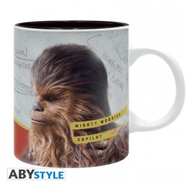 "STAR WARS - Tazza - 320 ml - ""Solo Chewie"" - subli - con scatola x2"