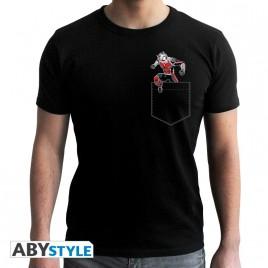 """MARVEL - Tshirt """"Ant-Man Poche"""" uomo SS nero - nuova vestibilità"""