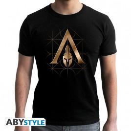 ASSASSIN'S CREED - Tshirt - Crest Odyssey - uomo SS nero - nuova vestibilità