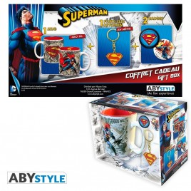 "DC COMICS - Pck Mug + Portachiavi + Badge ""Superman"""