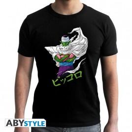 """DRAGON BALL - Tshirt """"DBZ / Piccolo"""" uomo SS nero - nuova vestibilità"""