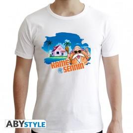 "DRAGON BALL - Tshirt ""DBZ / Master Roshi"" uomo SS bianco - Nuova vestibilità"