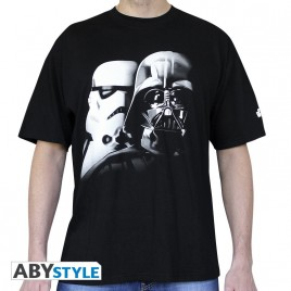 "STAR WARS - Maglietta ""Vador-Troopers"" uomo SS nera - basic"