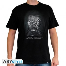 "GAME OF THRONES - Tshirt ""Iron throne"" uomo SS nero - basic"