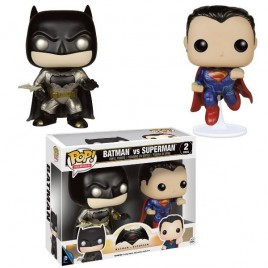 BATMAN V SUPERMAN - POP Vinyl Metallic Batman & Superman 2-pack!