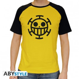 "ONE PIECE - Tshirt ""Trafalgar Law"" uomo SS giallo - premium"