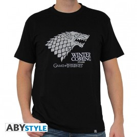 "GAME OF THRONES - Maglietta ""Winter is coming"" uomo SS nero - basic"