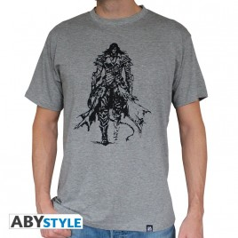 "CASTLEVANIA - Tshirt ""Trevor Belmont"" uomo SS sport grigio - basic"