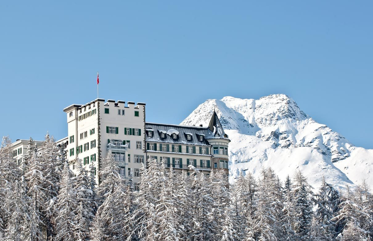 Hotel Waldhaus in Sils Maria during winter