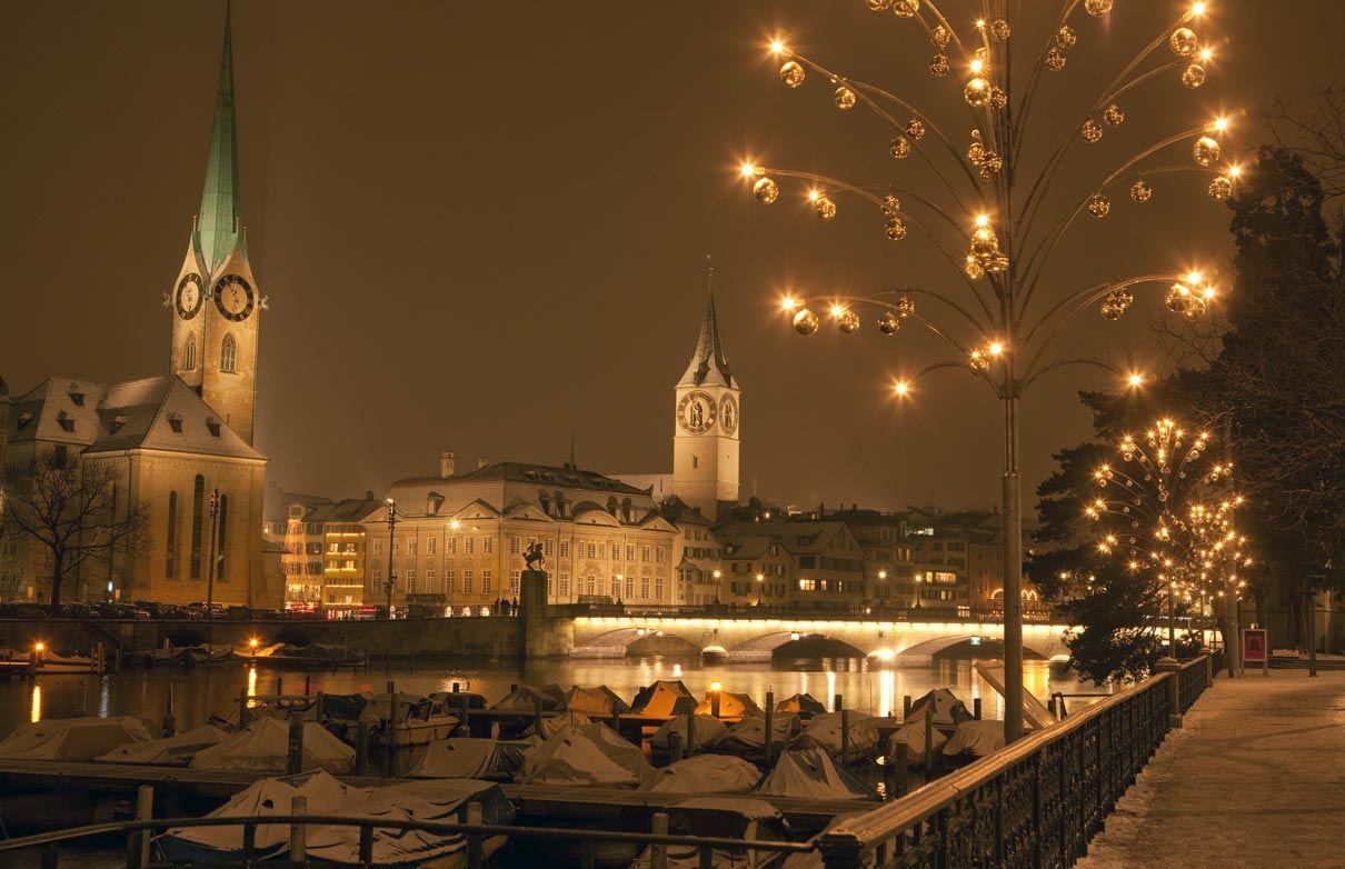 Zurich, en hiver