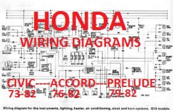 HONDA CIVIC-ACCORD-PRELUDE 1973-1982 WIRING DIAGRAMS
