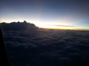 Daybreak above the clouds
