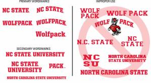 NC State wordmarks
