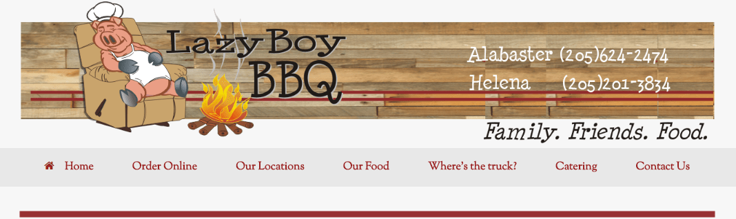 Lazy Boy BBQ Banner Alabaster Alabama