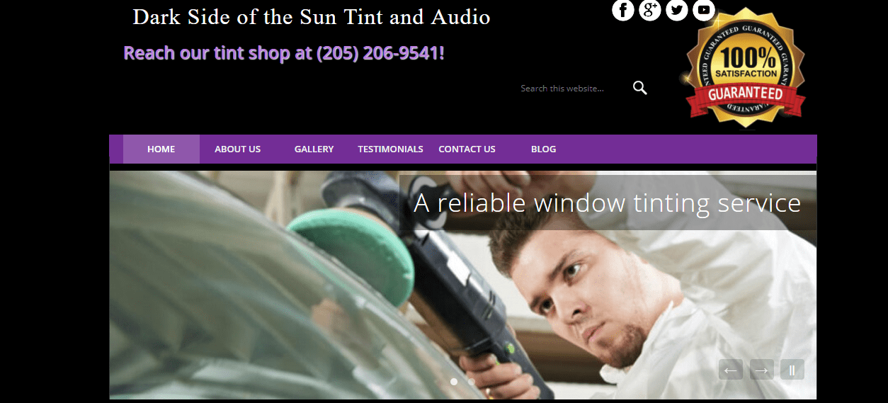 Birmingham Auto Window Tinting, Auto Audio Services, Dark Side of the Sun Tint and Audio Services, Alabaster, Alabama