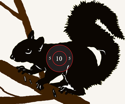 Squirrel target for practice. Use this target to stay sharp with your shooting skills