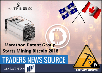 Marathon Patent Group Passes on Bitcoin Mining Merger, Developing its Own Bitcoin Mining Operation