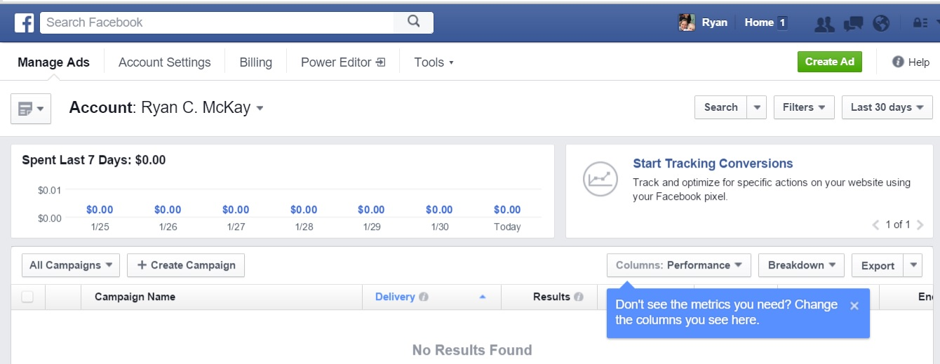 Facebook ads manager orlando marketing agency ripcurrent