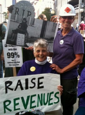 Pat and I represented tradeswomen and the 99%