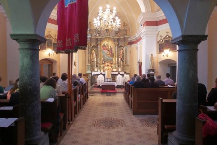 Tradicionalna Misa u ljubljanskoj crkvi sv. Roka.