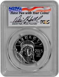 2015-W $100 Statue of Liberty (PCGS-PR70DCAM FS) - Hall - Obv