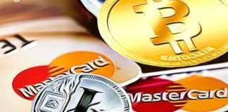 MasterCard kryptodebetní BTC bitcoin mince kryptoměny digitální měny