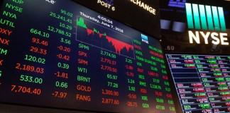 akcie ekonomika trading graf indexy NYSE DAX