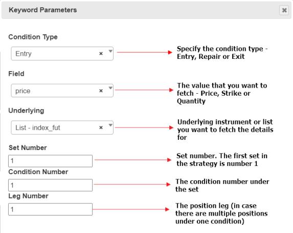Tradetron Traded Instrument Keyword 16