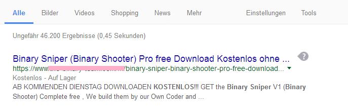 wer mit binary sniper kostenlos runterladen wirbt ist ein Fakeanbieter