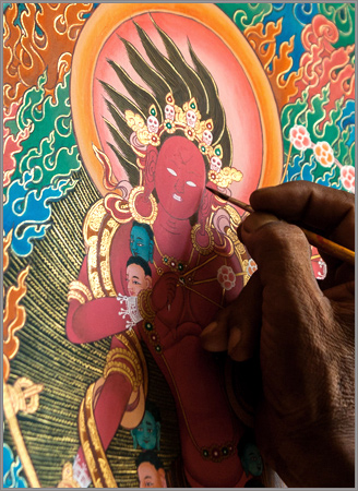 Thanka Painting details