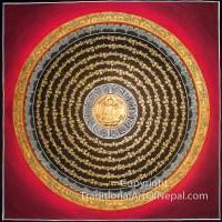gold Buddhist mandala