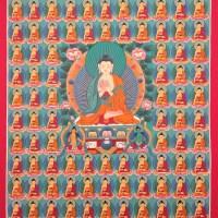 108 Bodhisattvas Thangka