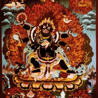 Six Hands Black Mahakala Shadbhuja