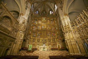 High Mass In Spain At This Altar At The Reredos at Toledo Cathedral