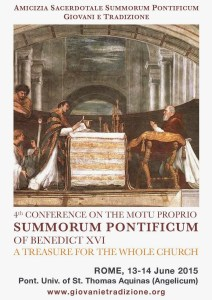 Flyer For The  4th Summorum Conference in Rome Angelicum, June 13-14, 2015_locandina EN-page-001