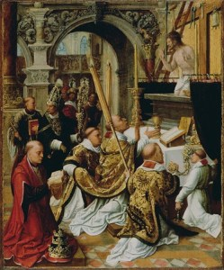adriaen_ysenbrandt_0028netherlandish002c_active_1510_-_15510029_-_the_mass_of_saint_gregory_the_great_-_google_art_project