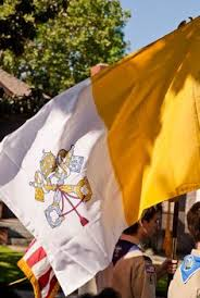 Catholic Flags On Procession_02