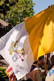 Catholic Flags On Procession_02