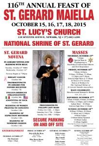 Saint Gerard Majella 2015 Feast