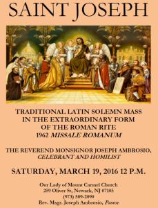 Feast Of Saint Joseph Traditional Mass