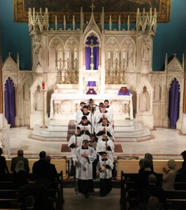 The Second Sunday in Lent (February 21, 2016) at the Church of the Holy Innocents, NYC.