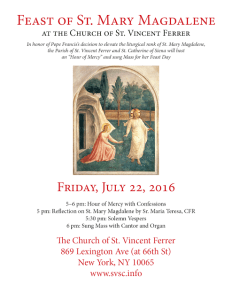 St. Mary Magdalene Feast Mass 072216_ St Vincent Ferrer NYC