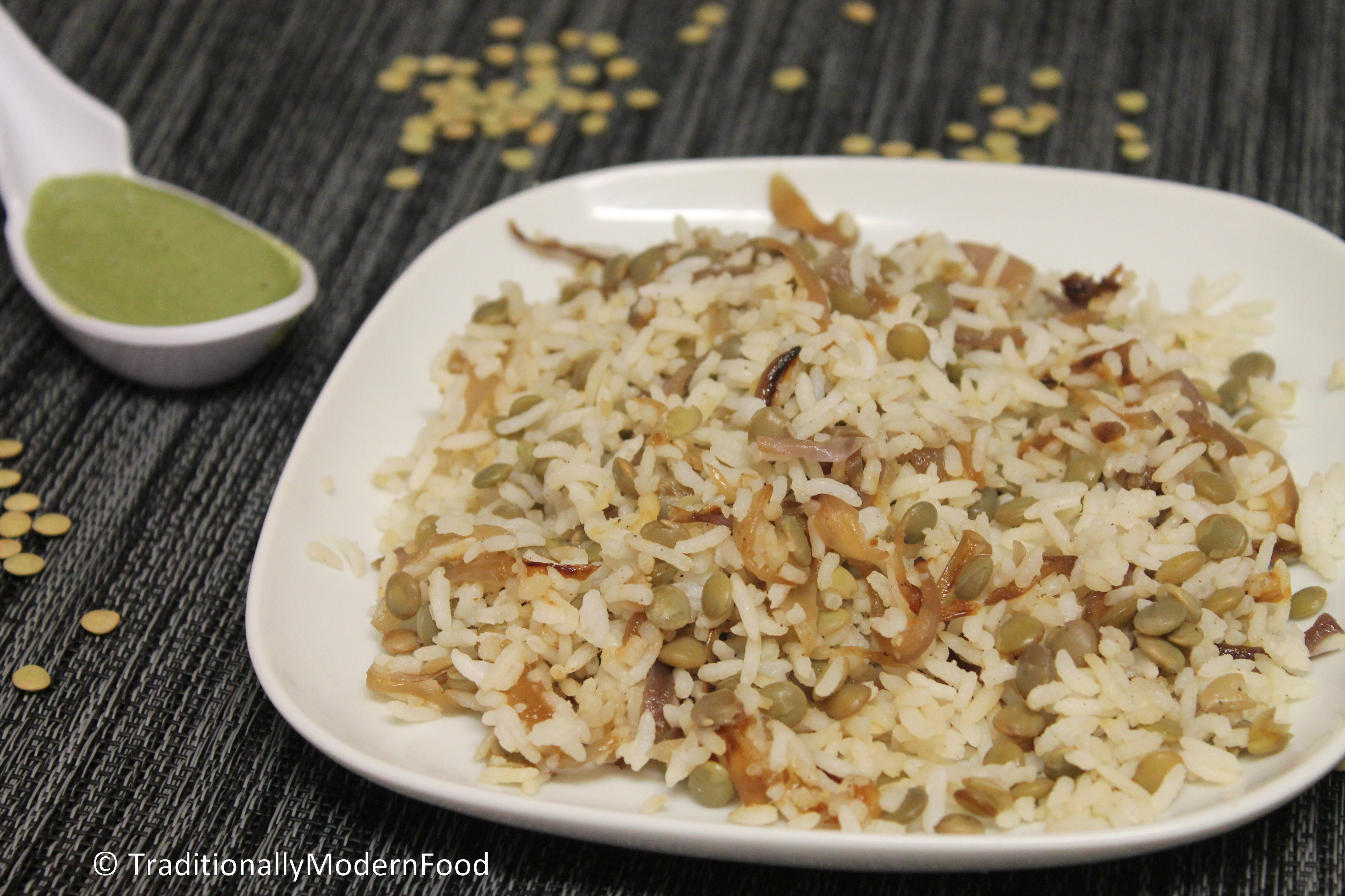 Green Lentil Rice