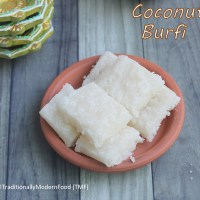 Thengai burfi | Coconut Burfi | Nariyal Burfi with Frozen coconut