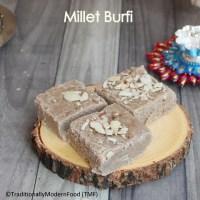 Millet Burfi | Burfi recipe