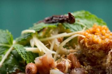 Crispy Rice Ball Salad