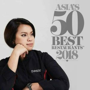 Bee Satongun, chef of Mischelin-starred Paste Bangkok, and Best Female Chef, Asia's 50 Best Restaurants 2018