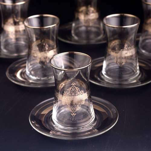 Ottoman Style Turkish Tea Set For Six Person