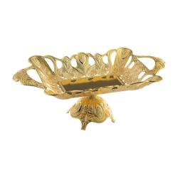 Gold Color Rectangle Chocolate Bowl
