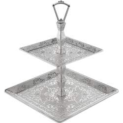 Two Tier Silver Fruit - Cookie Serving Tray